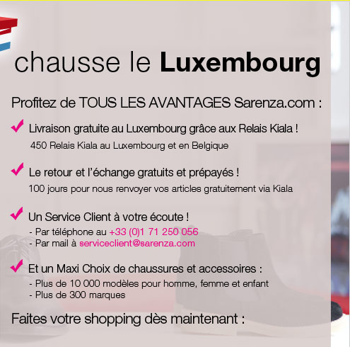 Sarenza.com chausse le Luxembourg