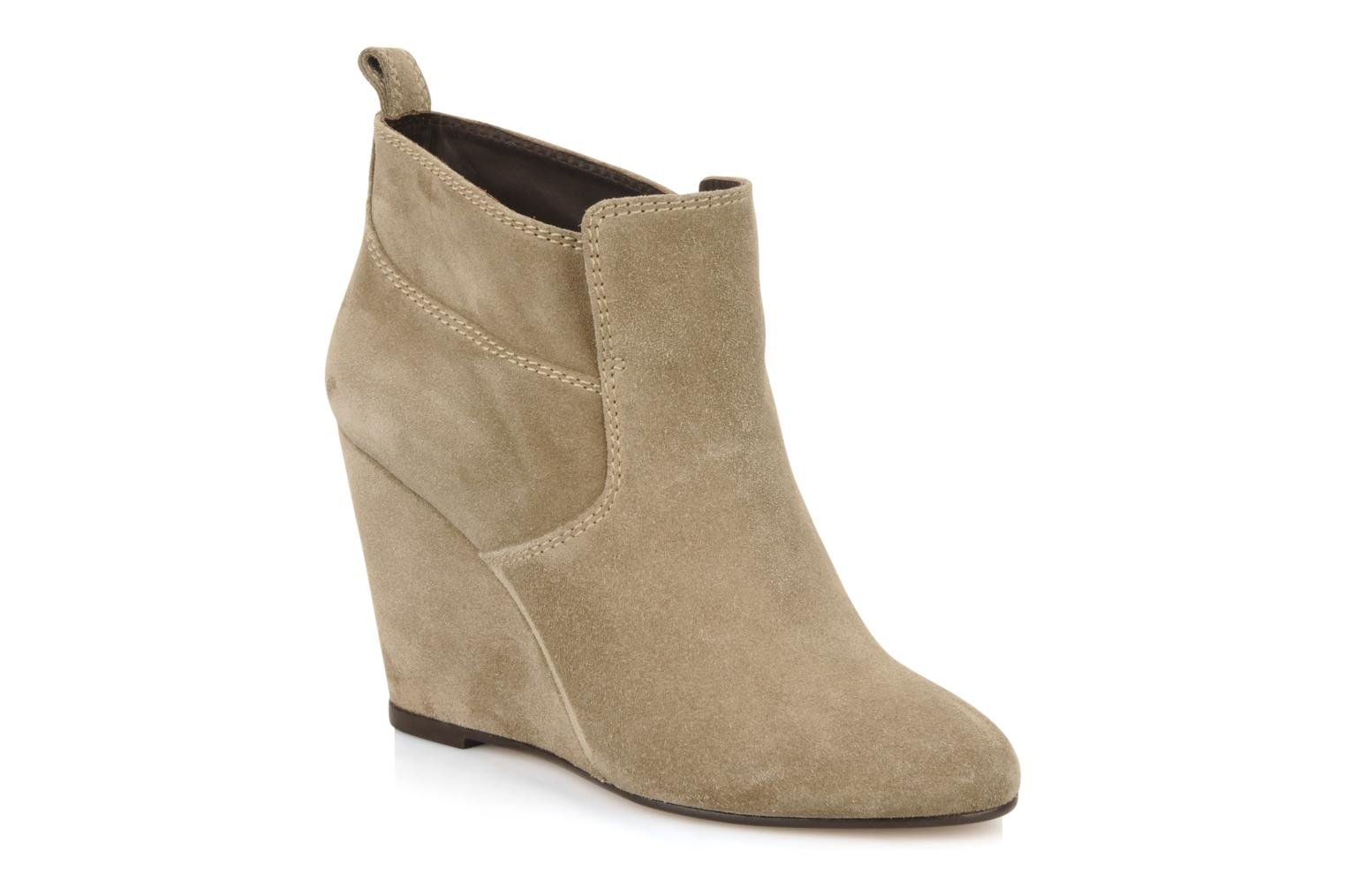 Wedge booty stitch suede