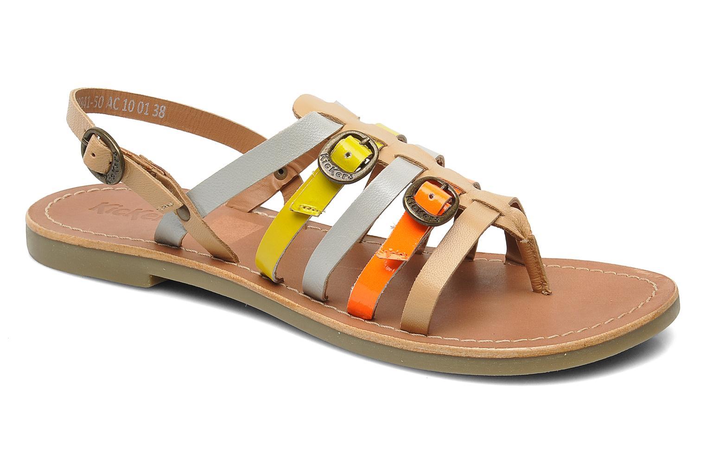 kickers dixmille sandalen f r damen mehrfarbig marke kickers. Black Bedroom Furniture Sets. Home Design Ideas