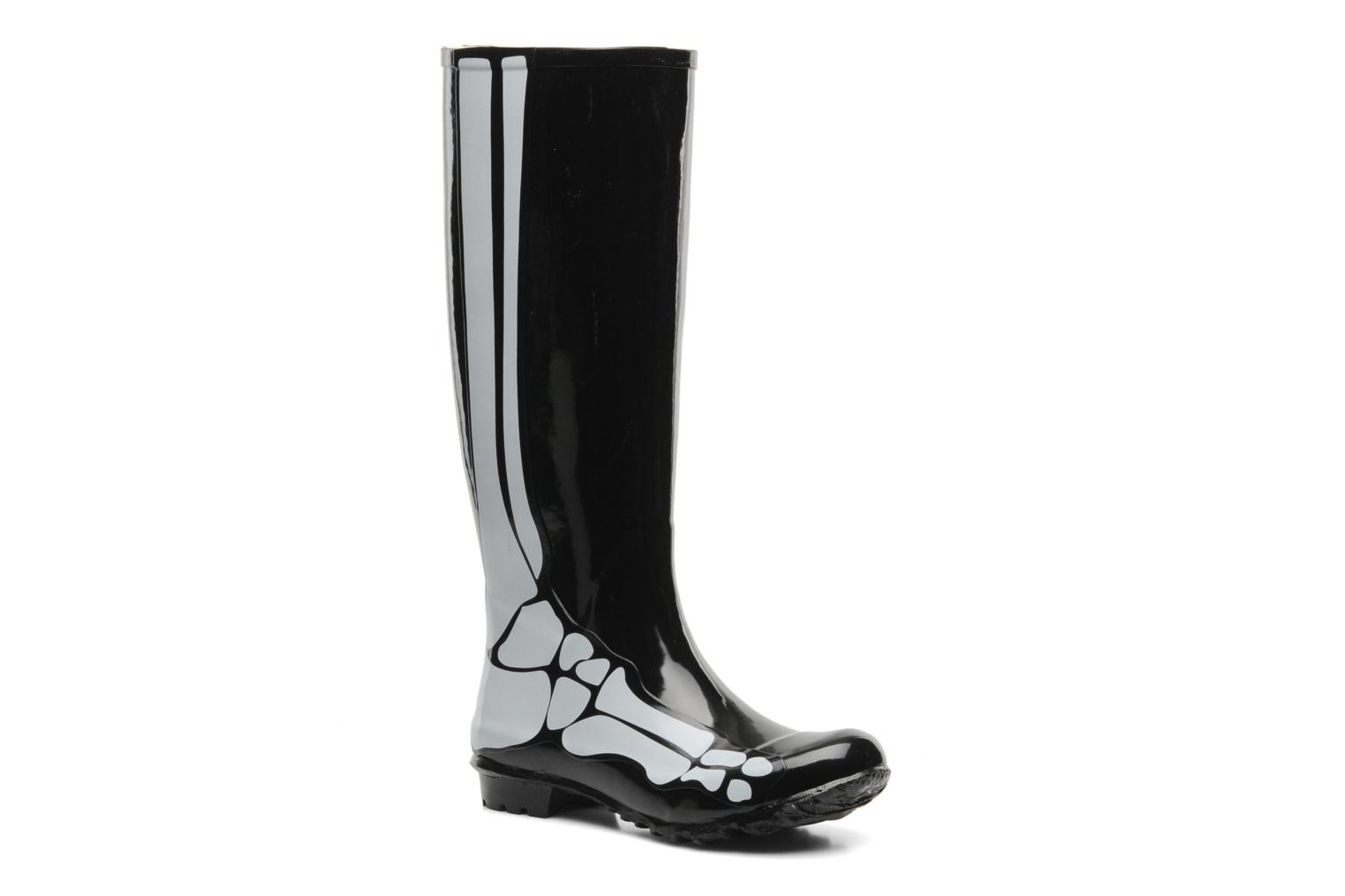 skeleton rain boot