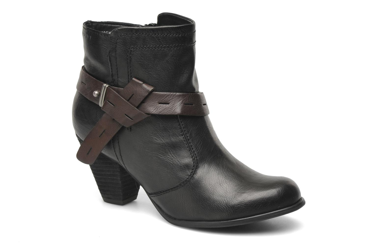 esprit evelin bootie stiefeletten boots f r damen schwarz. Black Bedroom Furniture Sets. Home Design Ideas