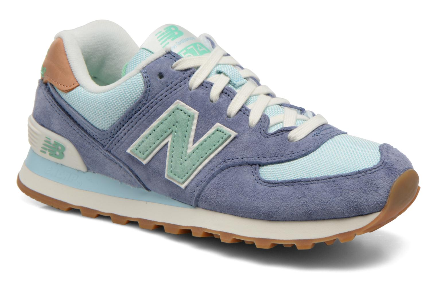 new balance mujer azul y gris