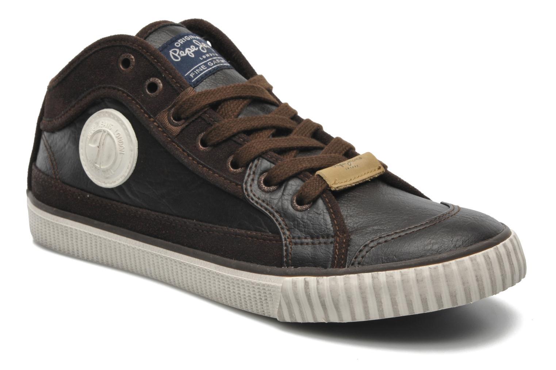 Pepe jeans - Industry Pu - Sneaker für Herren / braun