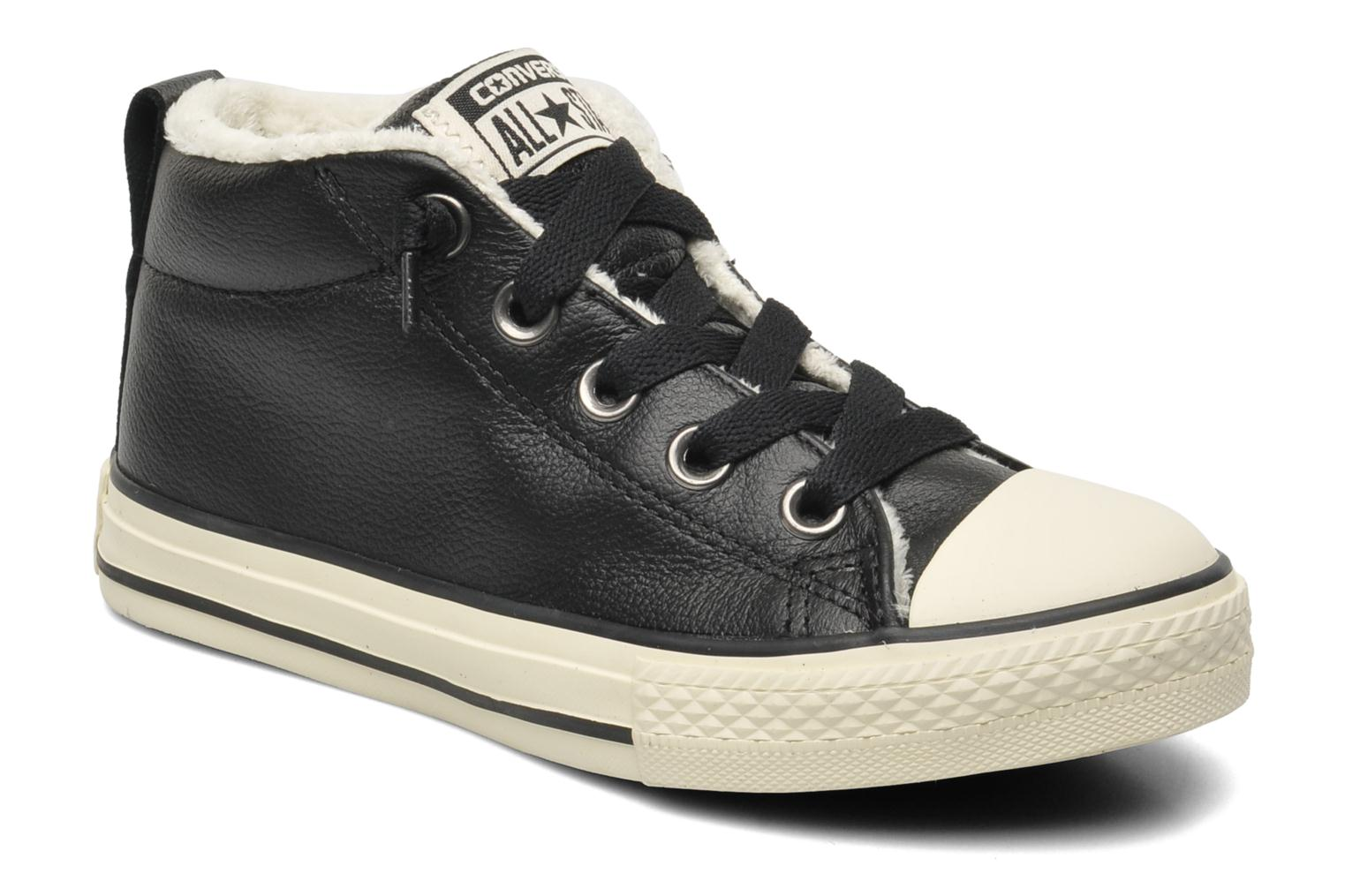 Chuck Taylor Street Leather Mid by Converse