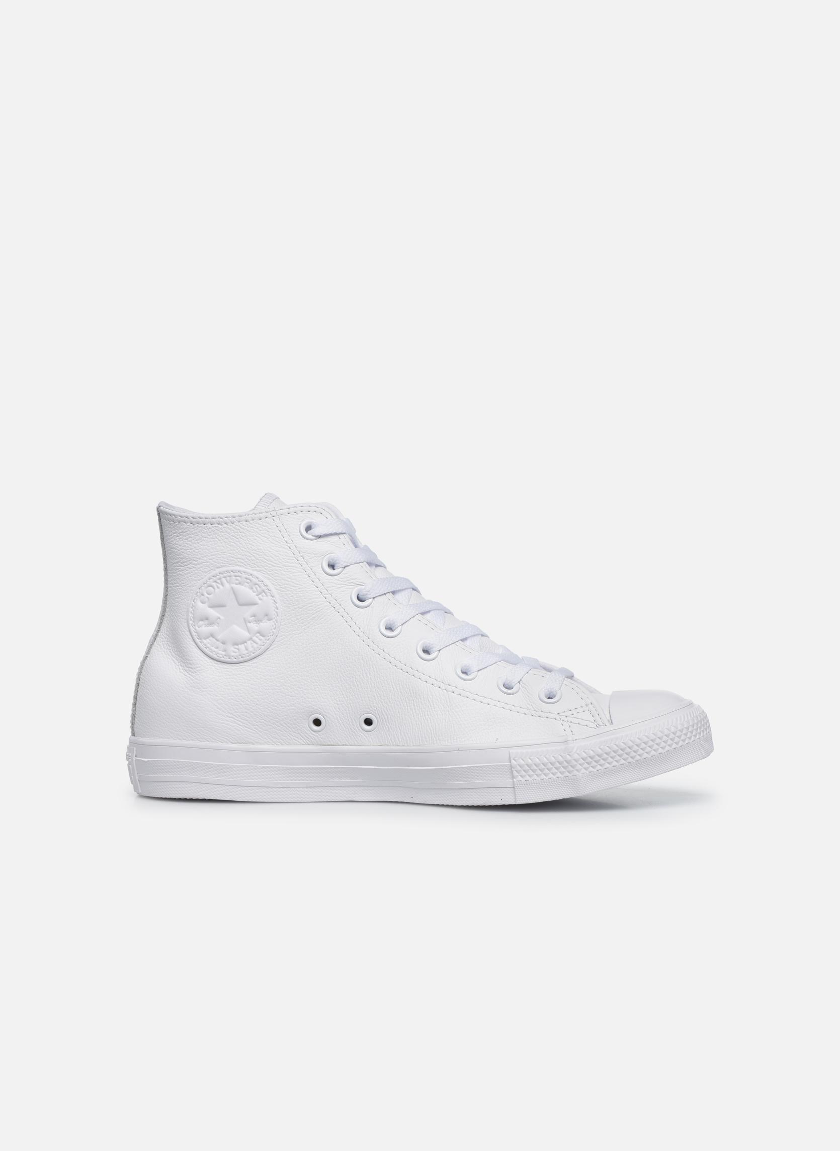 Detalles de Mujer Converse Chuck Taylor All Star Mono Leather Hi W Deportivas Blanco