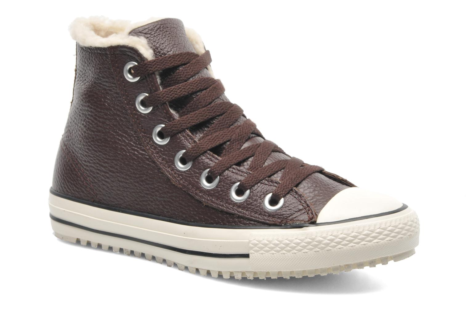 converse chuck taylor leather boot shearling hi w. Black Bedroom Furniture Sets. Home Design Ideas