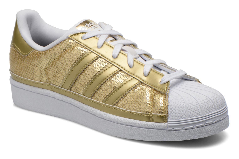 adidas superstar blancas y doradas baratas
