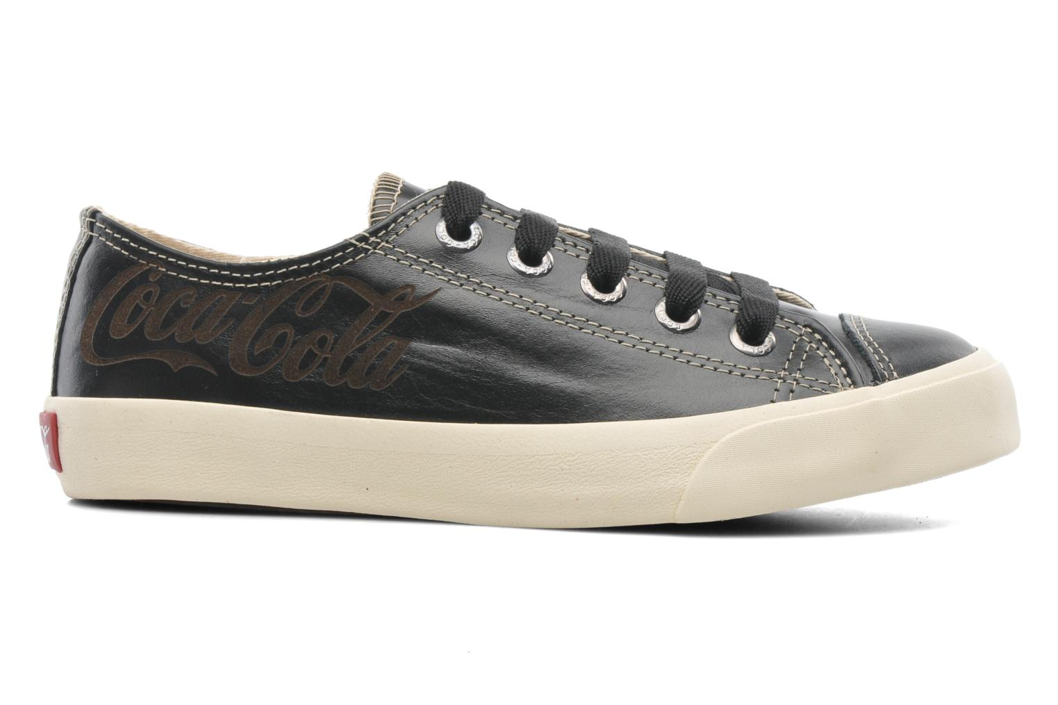 Mujer-Coca-Cola-Shoes-Plain-Leather-Low-Deportivas-Negro-Talla-36