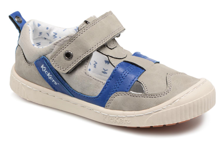 Schoenen met klitteband Kickers Grijs
