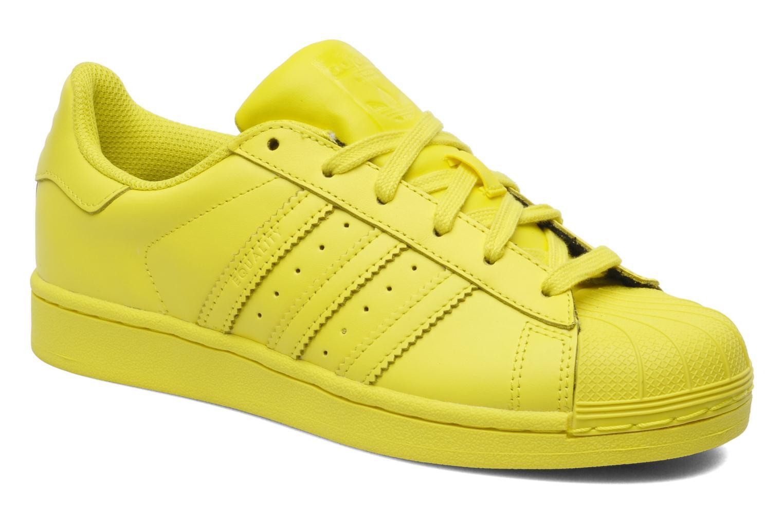 adidas superstar geel dames