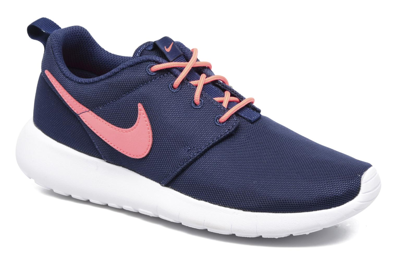Nike Roshe One Girls? Running Shoes Binary Blue/Lava Glow/White