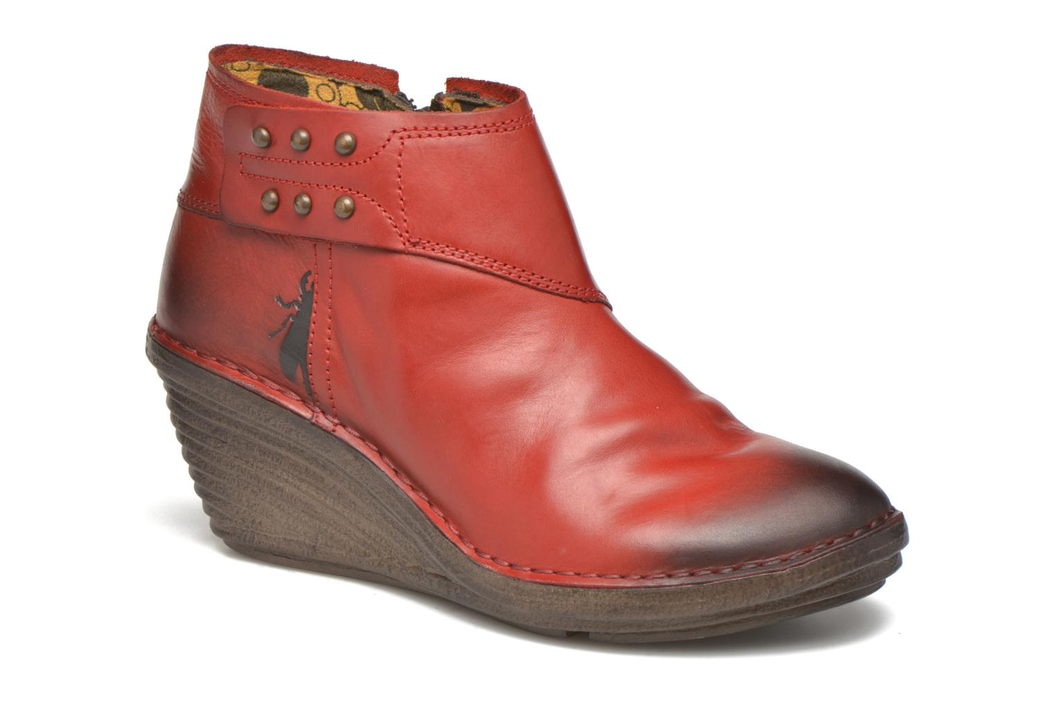Boots en enkellaarsjes Fly London Rood