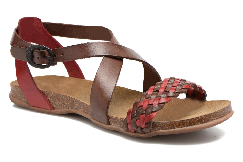 sale 10 kickers analogia sale sandalen f r damen rot bei sarenza g nstig schnell. Black Bedroom Furniture Sets. Home Design Ideas