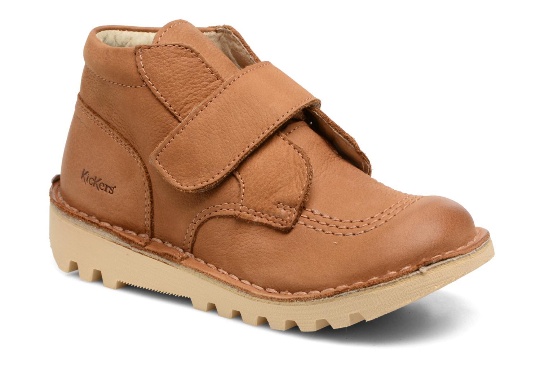 Schoenen met klitteband Kickers Bruin