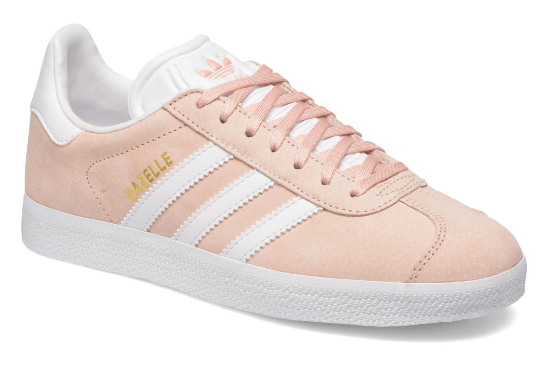 adidas gazelle azul y rosa