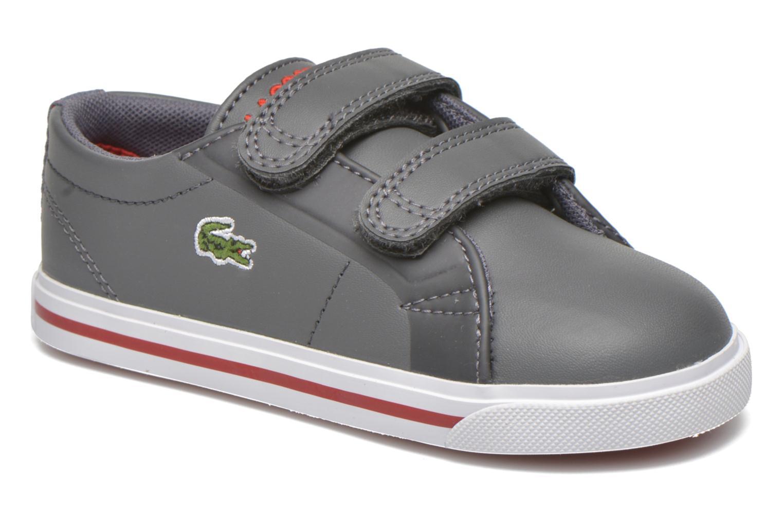 Artikel klicken und genauer betrachten! - Lacoste-Sneaker für Kinder verfügbar in Gr.20|21|22|23|24|25|26|27. , Material: , Farbe: grau, Stil: flach Freizeit    flach. 100 Tage kostenlose Rücksendung! | im Online Shop kaufen
