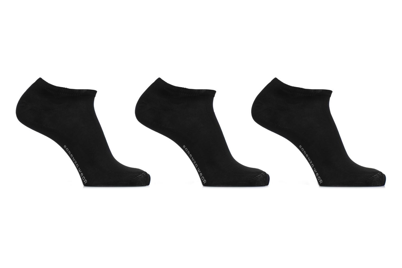 Chaussettes invisibles hommes uni Pack 3 COTON