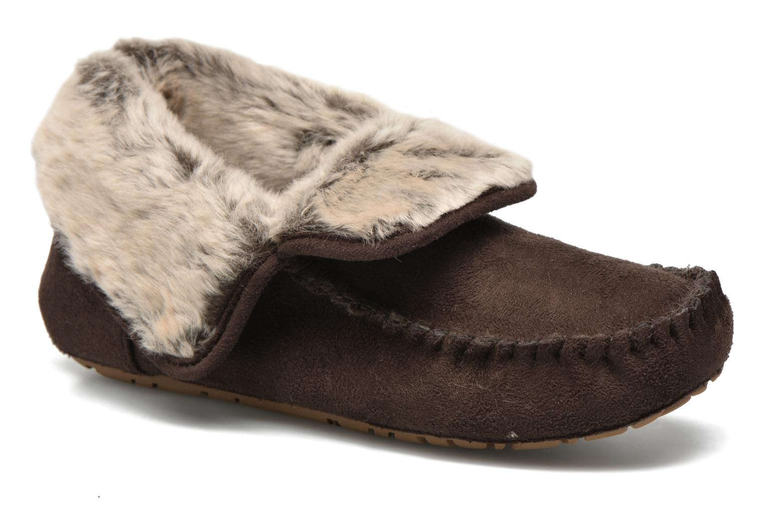 Suede bootie with fur