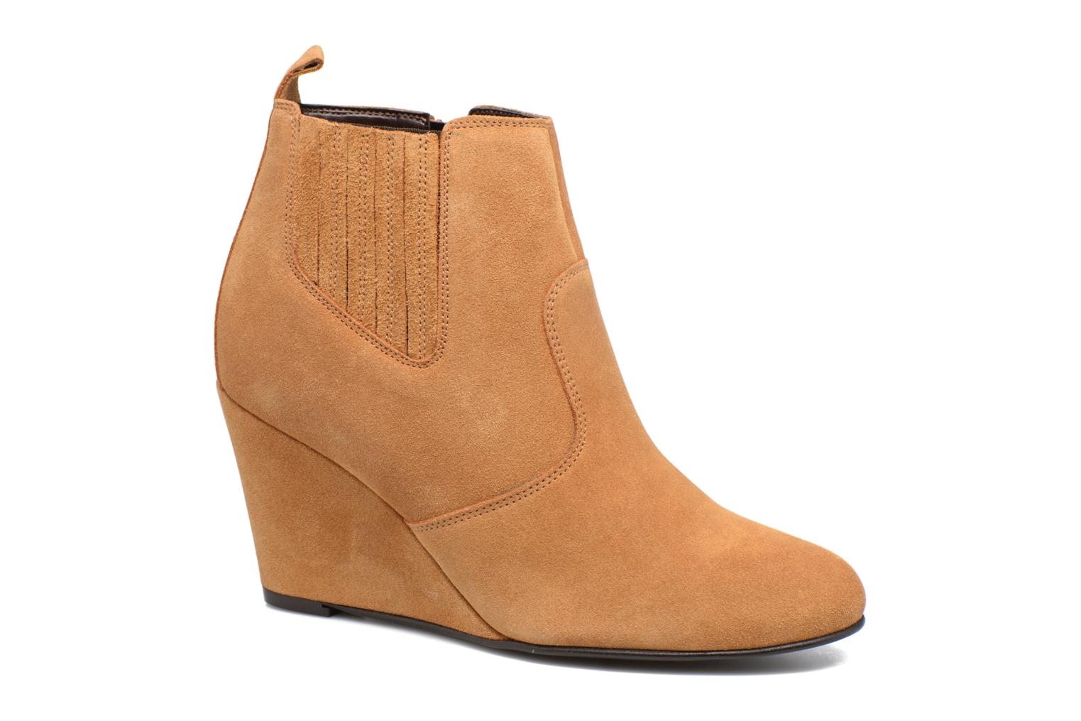 Lone Leather Wedge Boot par Vero Moda