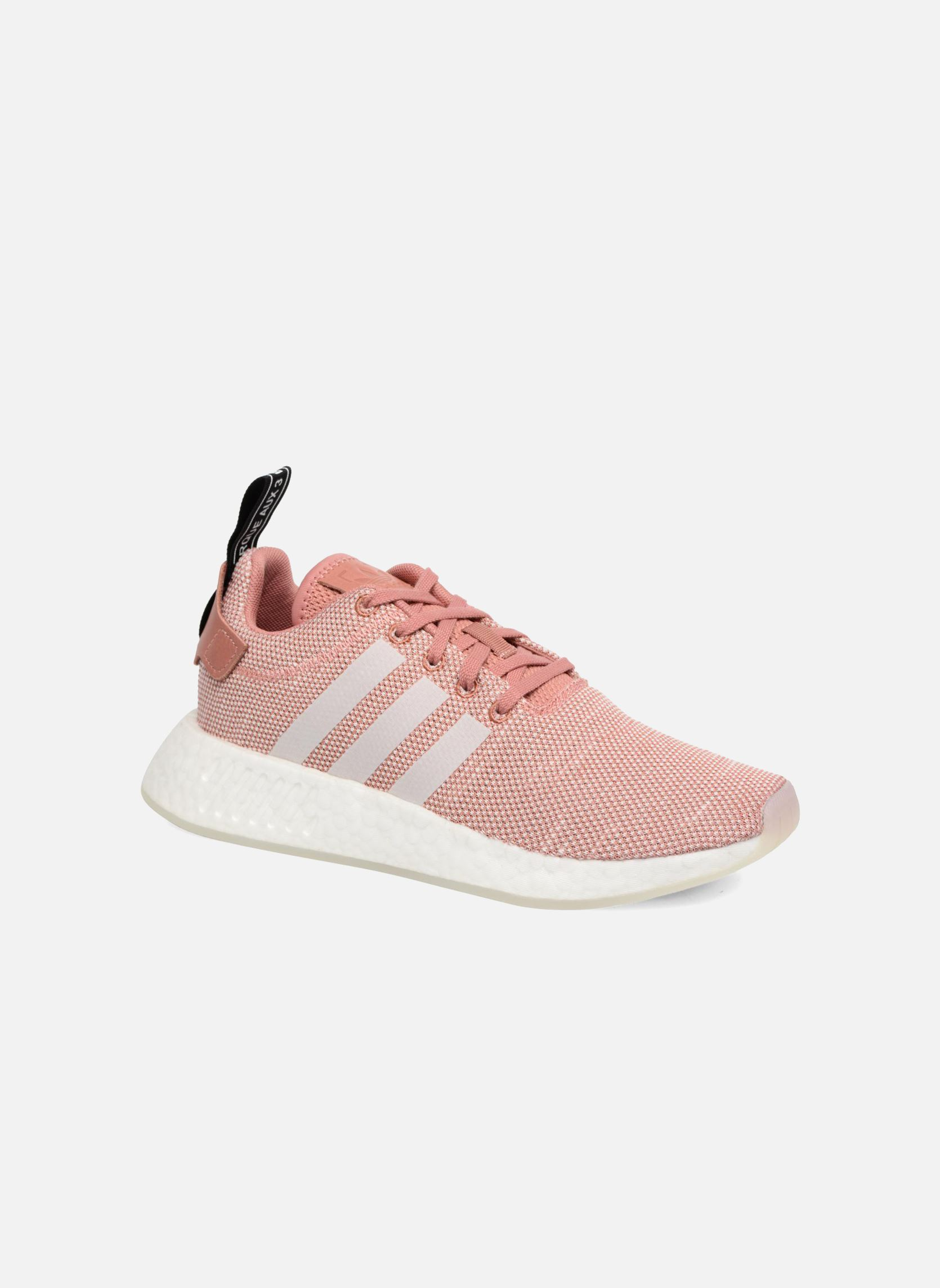 Las Adidas Originals NMD R2 W Lace Up formadores en rosa Ebay