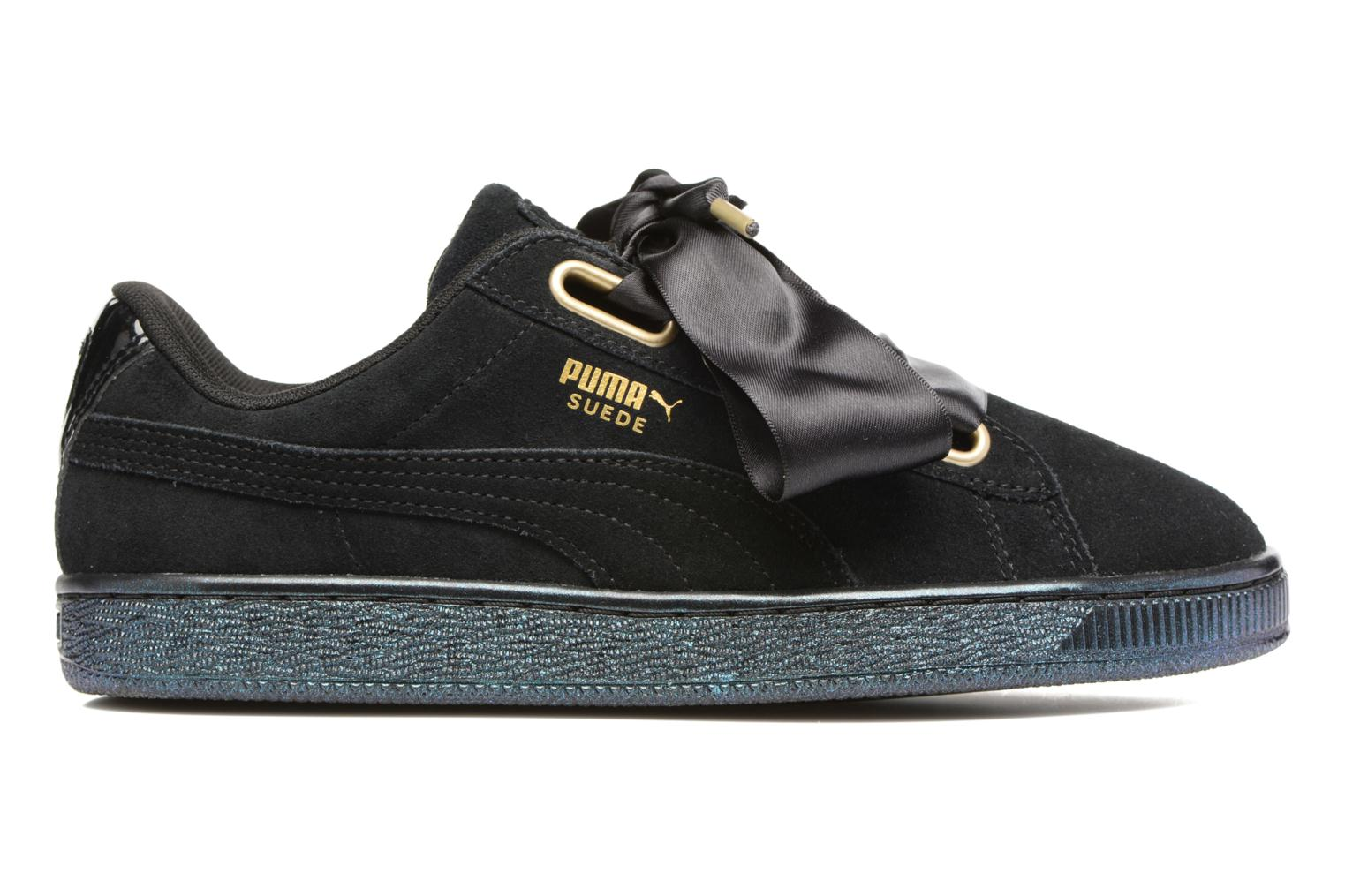 Dettagli su Donna Puma Suede Heart Satin Wn's Sneakers Nero