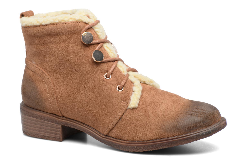 The Divine Factory Bottine Lacet  Tan Marron - Livraison Gratuite avec  - Chaussures Boot Femme