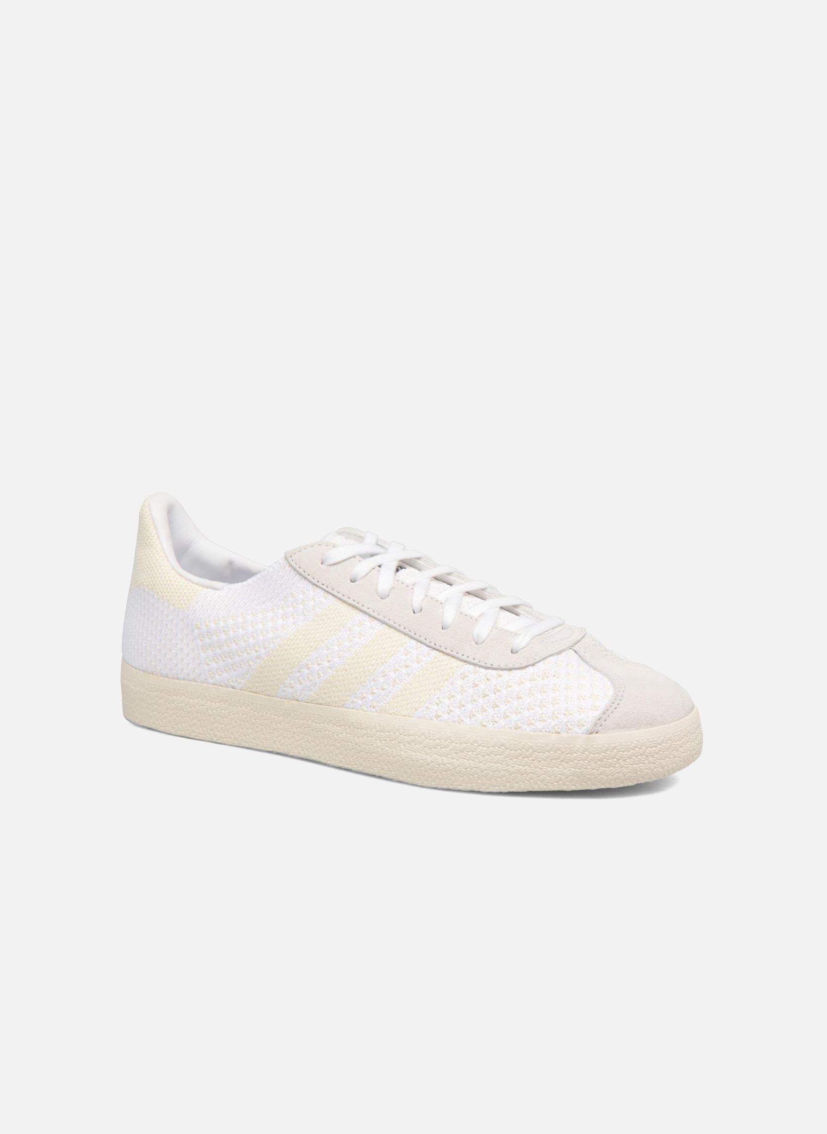 Gli uomini è adidas originali gazzella pk basso aumento dei formatori in bianco su ebay