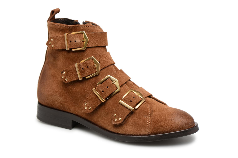 Boots en enkellaarsjes Pieces Bruin