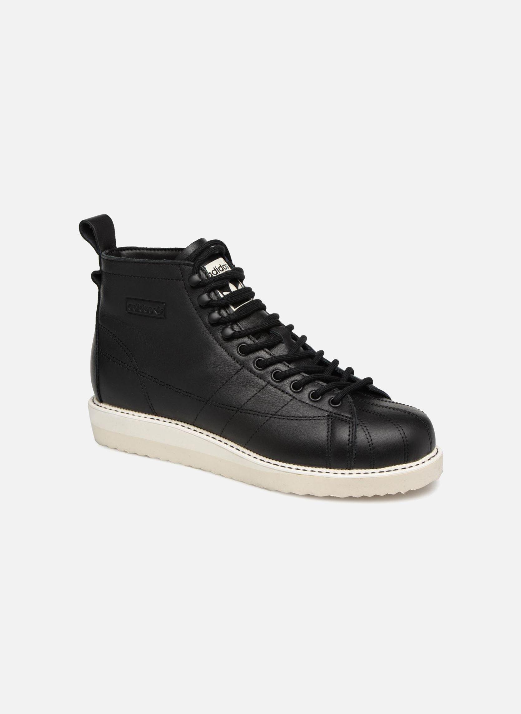 Details zu Damen Adidas Originals Superstar Boot W Sneaker Schwarz