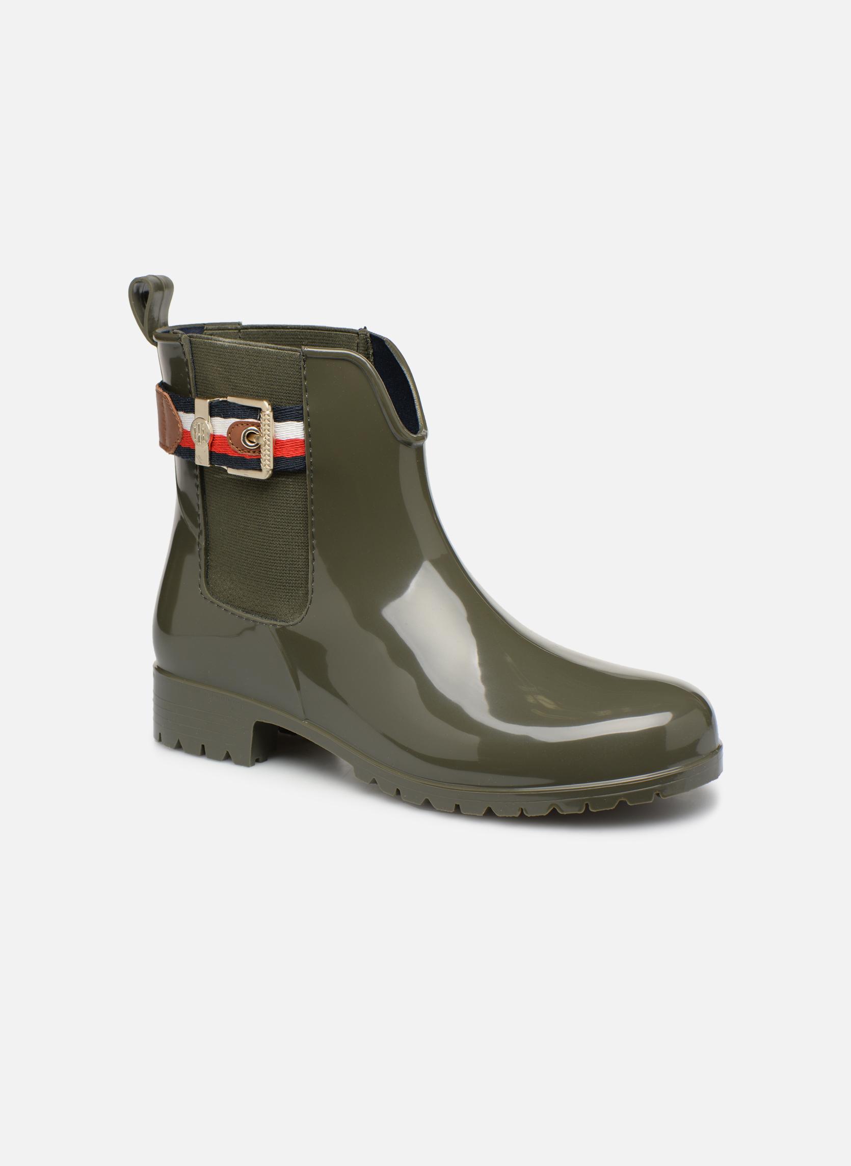 Boots en enkellaarsjes Tommy Hilfiger Groen