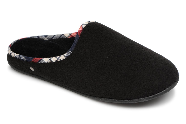 Men's Isotoner Mule Confort Polaire Slippers In Black - Size Uk 11.5   Eu 46 -
