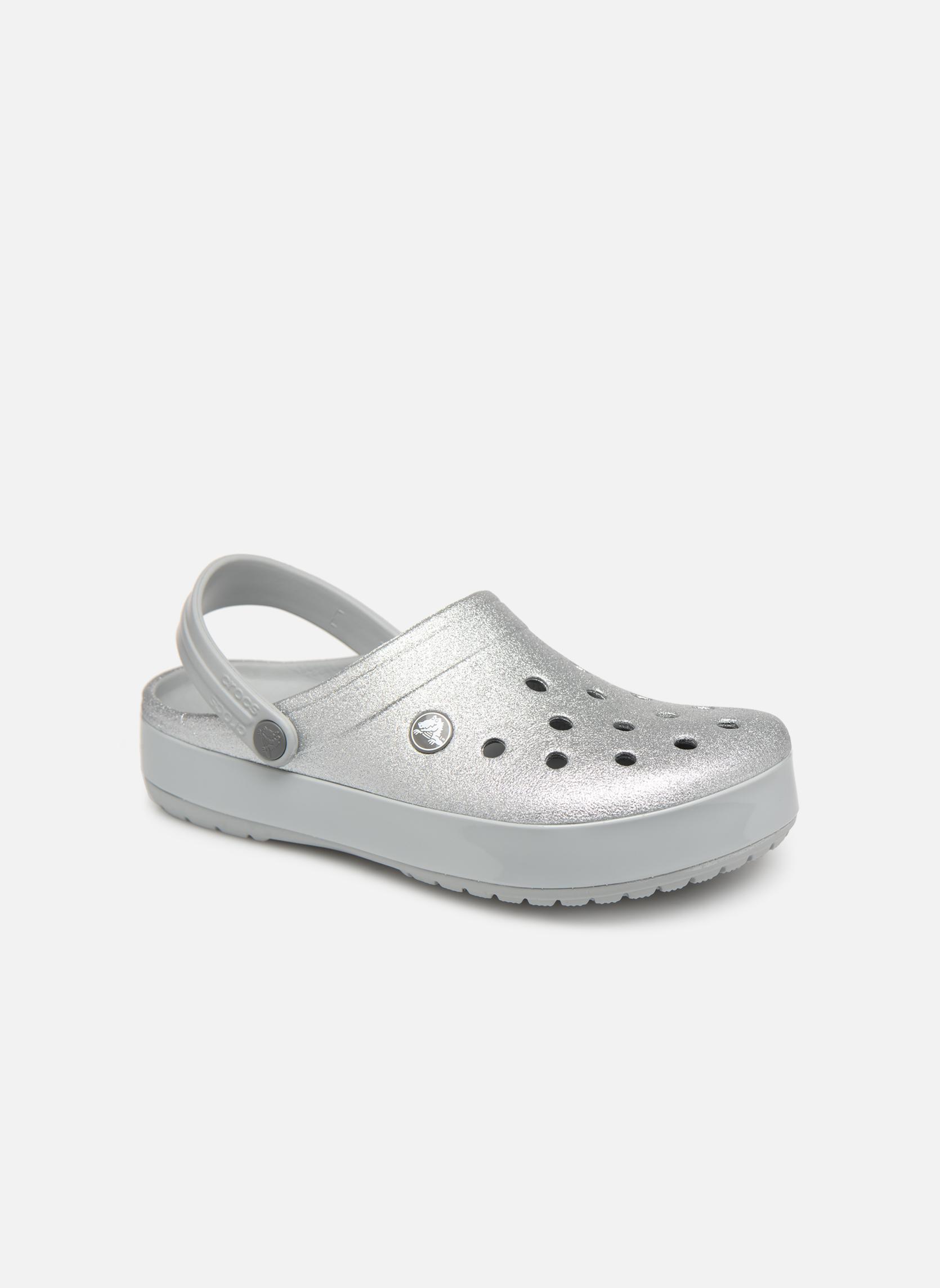 Wedges Crocs Zilver