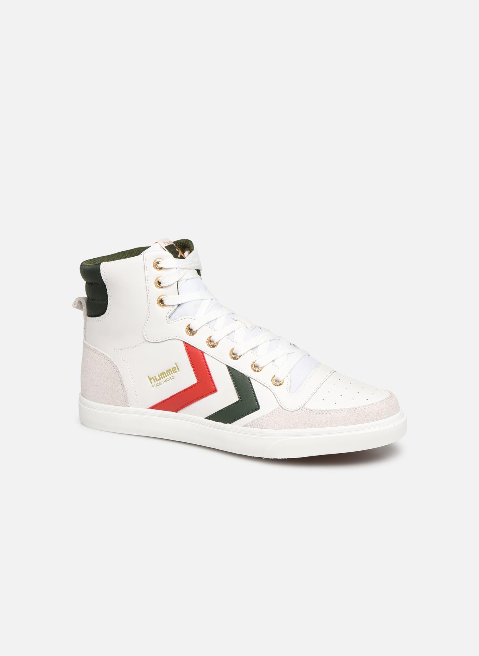 Details zu Herren Hummel Stadil Limited High Leather Sneaker Weiß