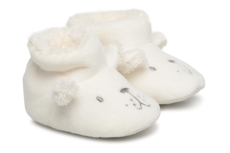Visualizza offerta: Bout'Chou - chaussons fourrés bébé - Hausschuhe für Kinder / weiß