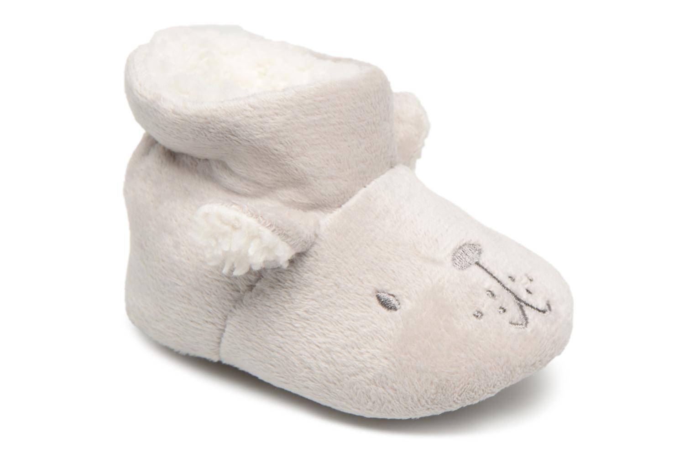 Visualizza offerta: Bout'Chou - chaussons fourrés bébé - Hausschuhe für Kinder / grau