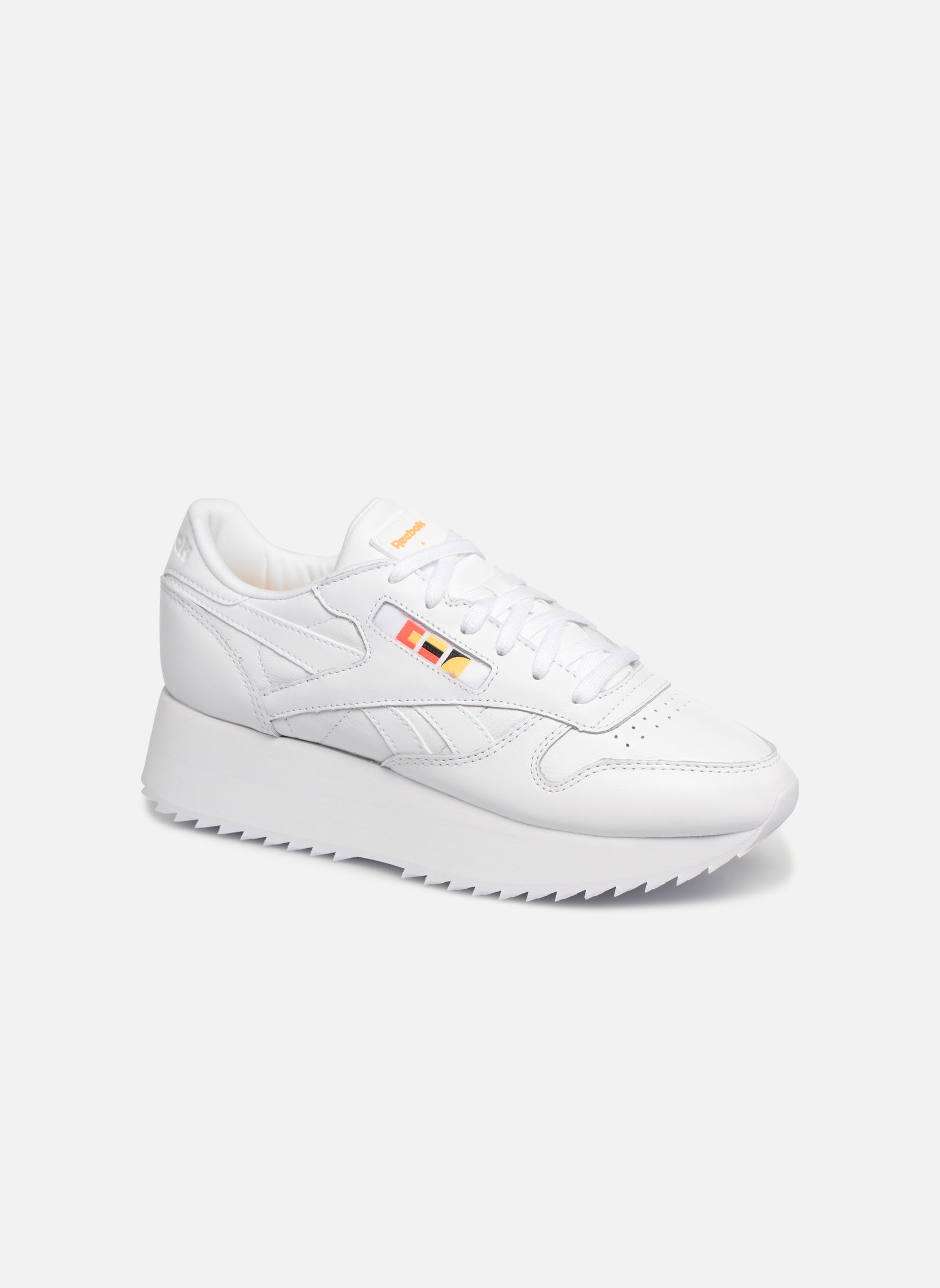 Details zu Damen Reebok Classic Leather Double Sneaker Weiß
