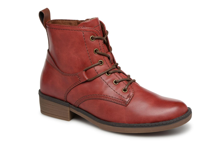 boots rouge imprime fleurs 6253edbe6449