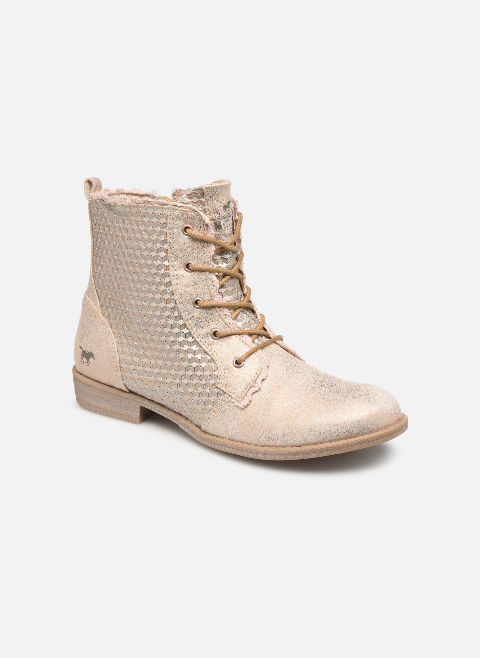Boots en enkellaarsjes Mustang shoes Roze