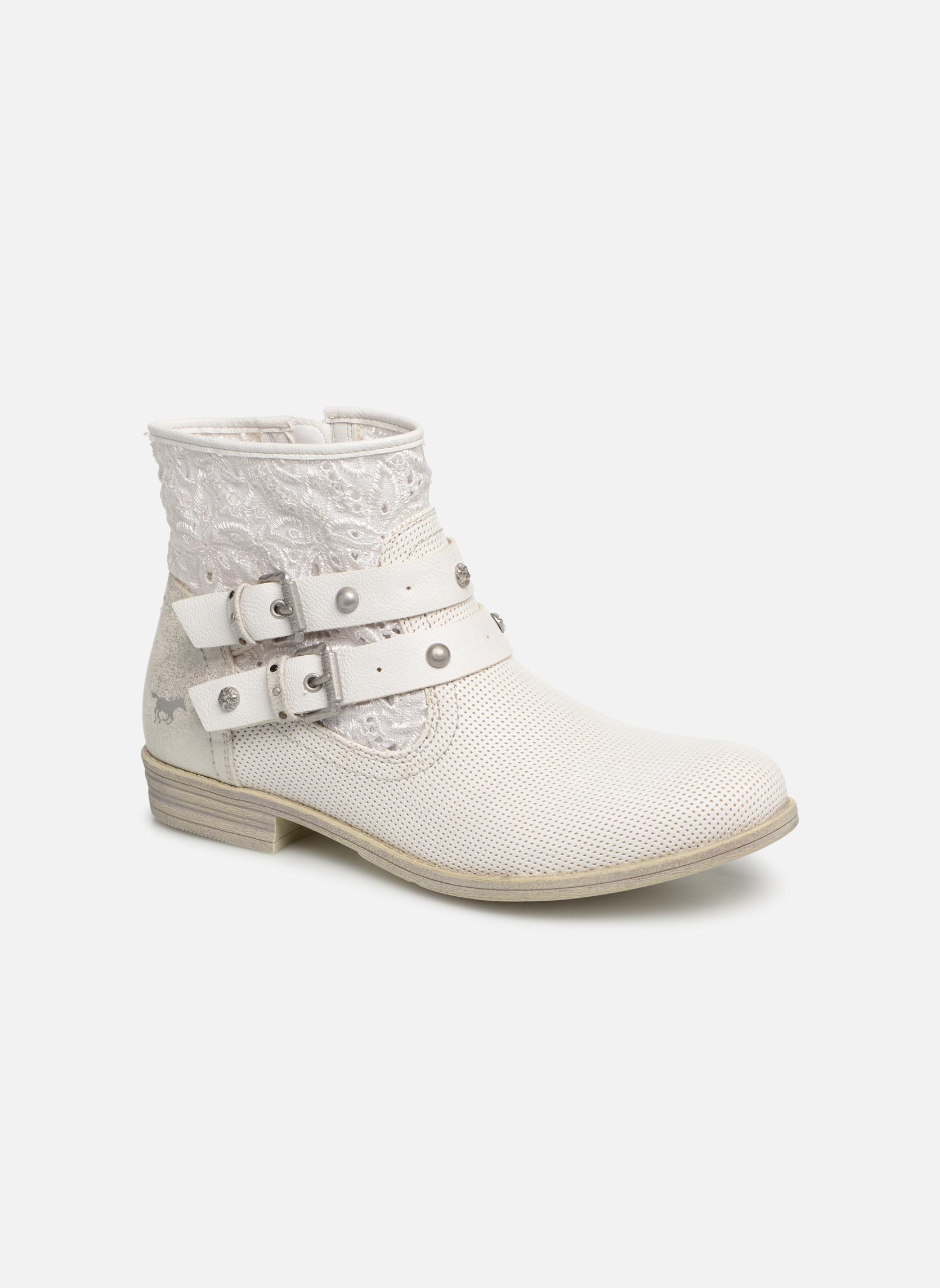 Boots en enkellaarsjes Mustang shoes Wit