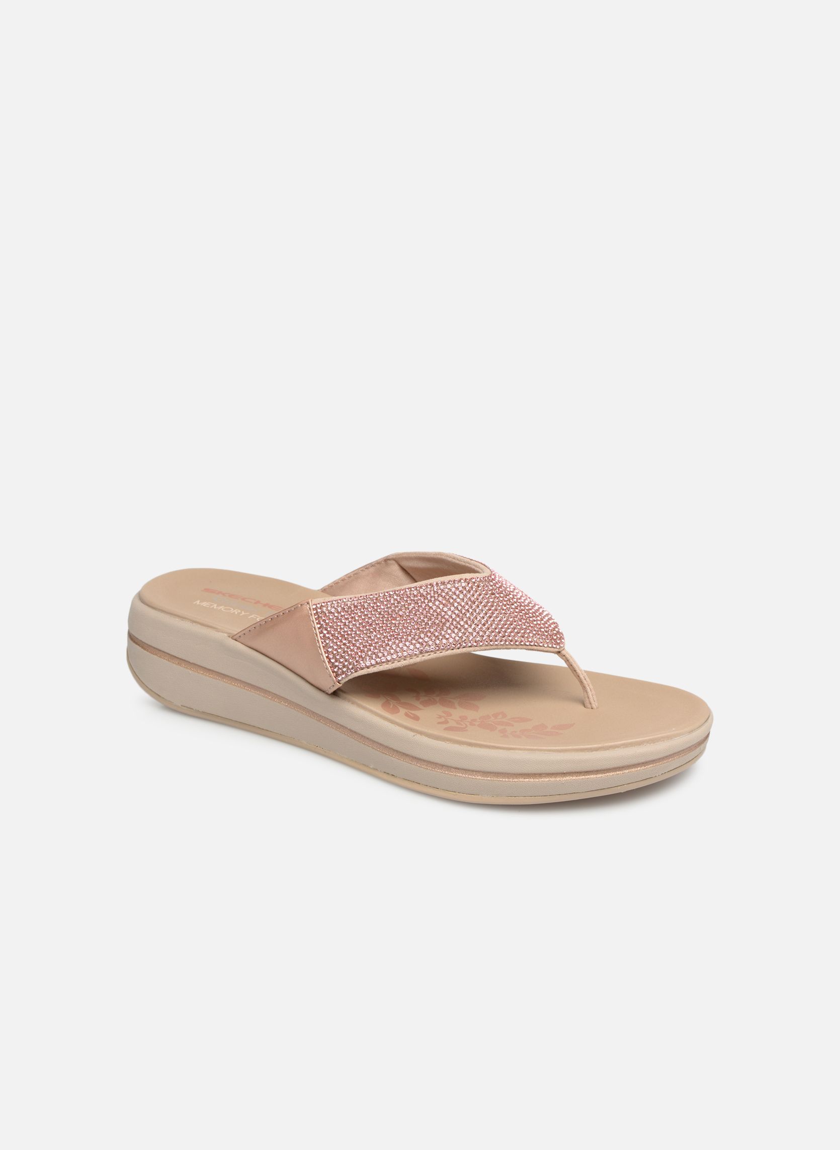 Skechers PEEK A BOO Sandalen met sleehak Roze | Sandalen