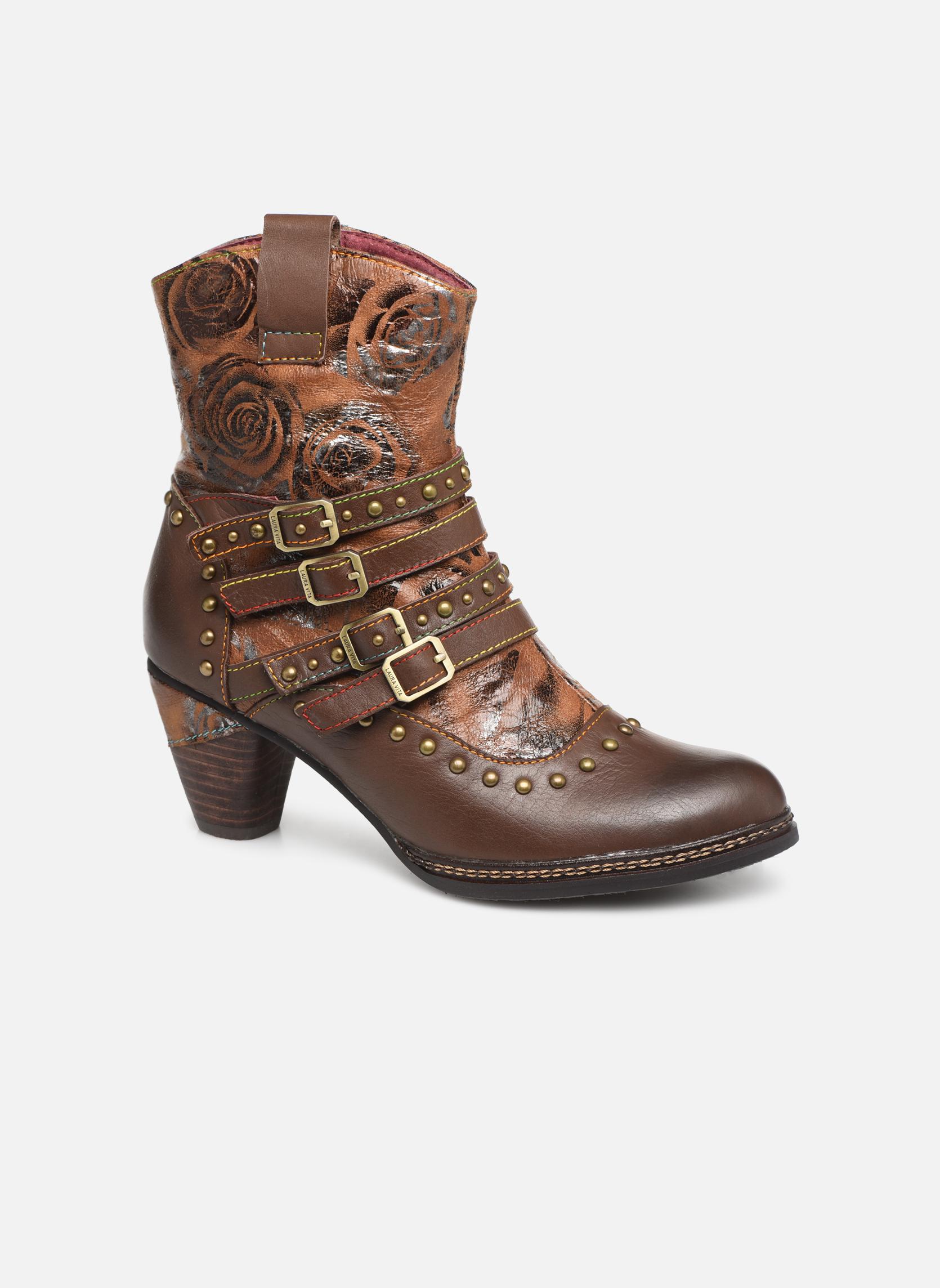 Boots en enkellaarsjes Laura Vita Bruin