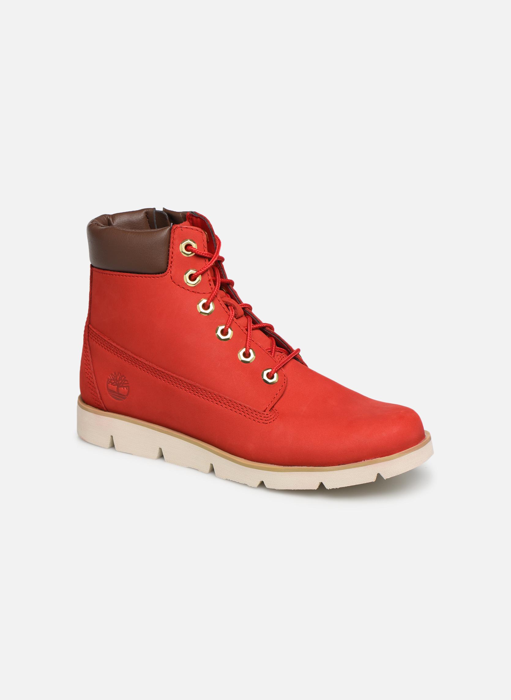 Boots en enkellaarsjes Timberland Rood