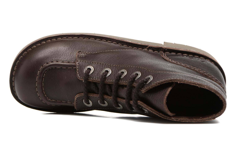 Scarpe con lacci Kickers Kick Col Marrone immagine sinistra