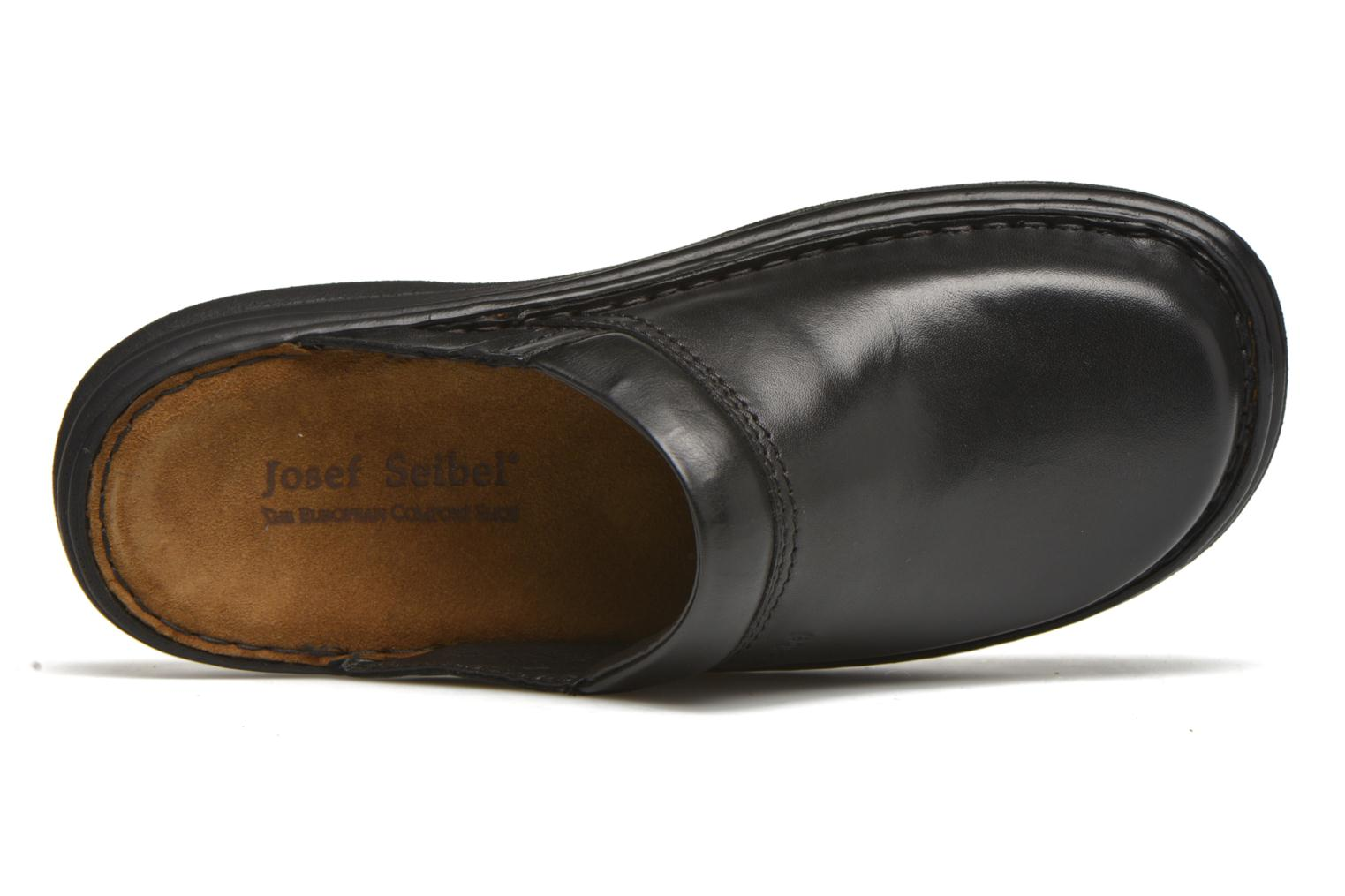 Sandals Josef Seibel Max Black view from the left