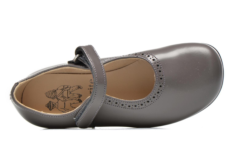 Delphine Grey leather