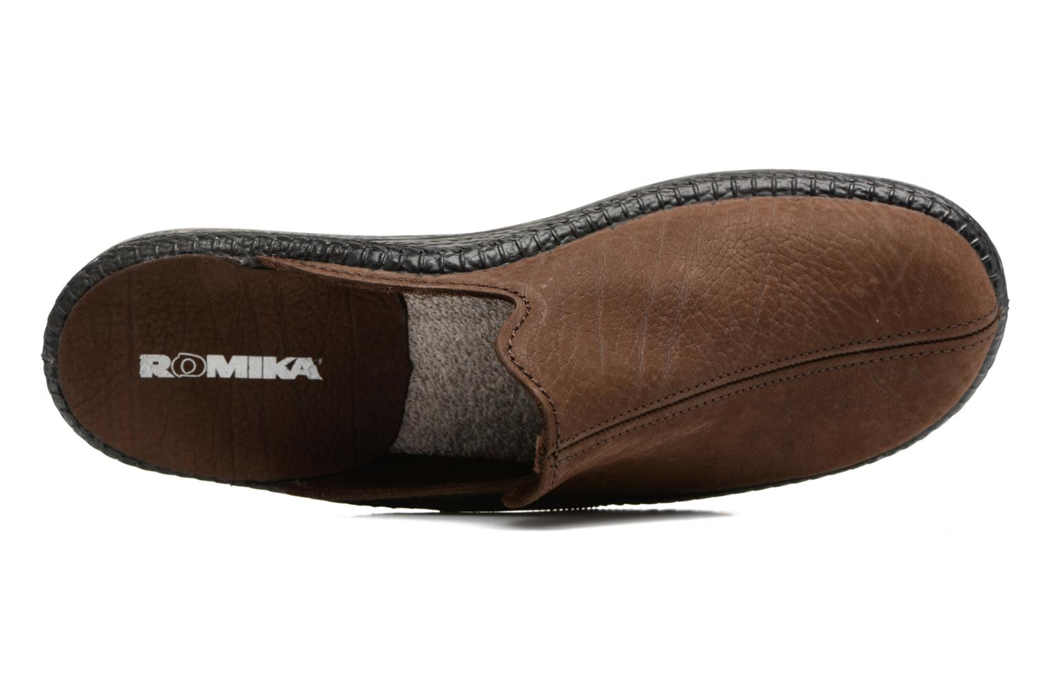 Slippers Romika Mokasso 202 Brown view from the left