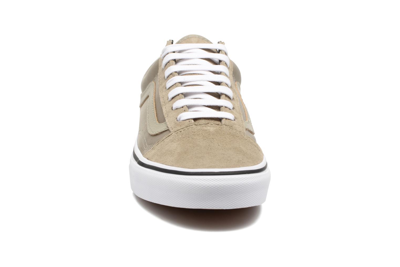 Sneaker Vans Old Skool W beige schuhe getragen