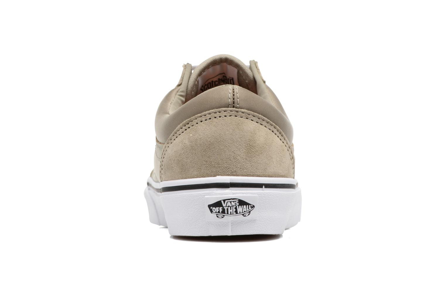 Trainers Vans Old Skool W Beige view from the right