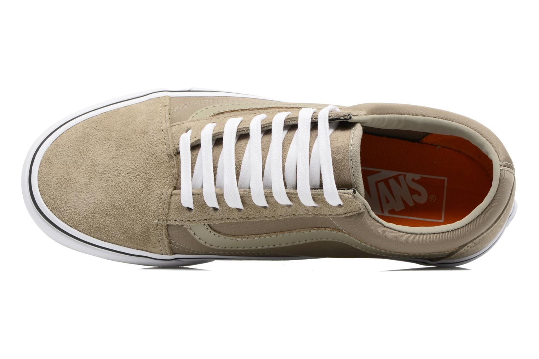 Sneaker Vans Old Skool W beige ansicht von links