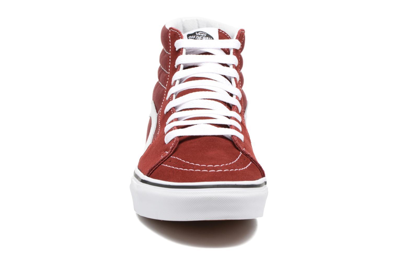 Sneaker Vans SK8 Hi M weinrot schuhe getragen